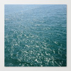 Deep Teal Sea Canvas Print