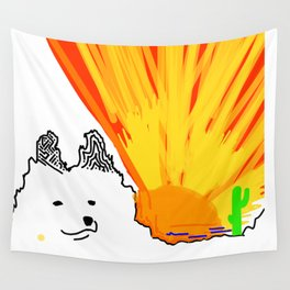 Sun Sets on Samoyed Wall Tapestry