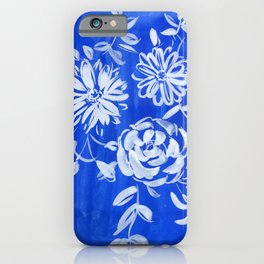 blue and white: flowers N.o 1 iPhone Case