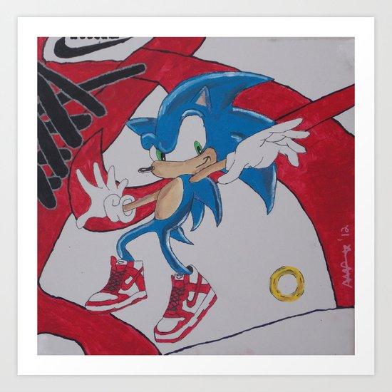 """Dunkin'"" Sonic Art Print"