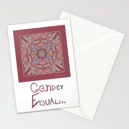 Gender Equality - Burgundy Melon Stationery Cards