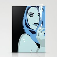 cigarettes Stationery Cards featuring Genevieve & Cigarettes  by Andrew Formosa