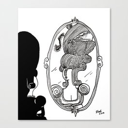 What is the proper course of action if you're only 99% sure that the person in the mirror is you? Canvas Print