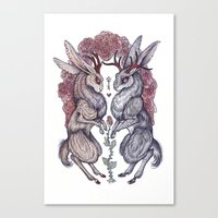 rare Canvas Prints featuring Rare Hearts by Caitlin Hackett