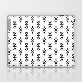 Black and white indian boho summer ethnic arrows Laptop & iPad Skin