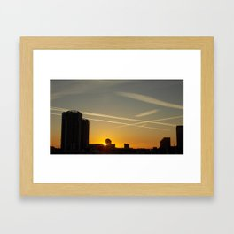 Tampa Bay Skyline Sunset Framed Art Print