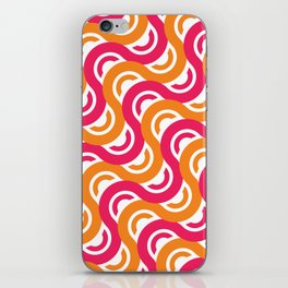 refresh curves and waves geometric pattern iPhone Skin