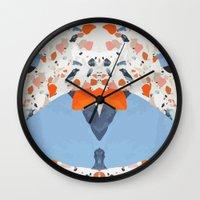 swedish Wall Clocks featuring Swedish Lava by Pearlyn Chiam