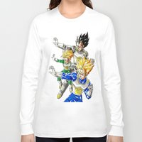 vegeta Long Sleeve T-shirts featuring vegeta family tree by Unic art