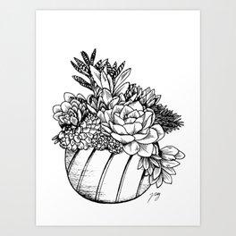 Succulents & Cactus Art Print