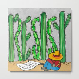 RESIST the wall Metal Print