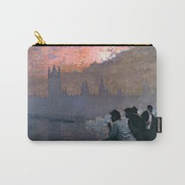 Westminster by Giuseppe de Nittis - Italian Fine Art Oil Painting Carry-All Pouch