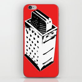 Black & White Grater on Red iPhone Skin