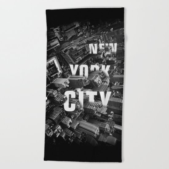 New York City streets Beach Towel