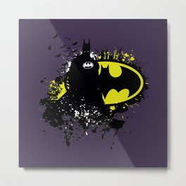 Splashing Bat Metal Print