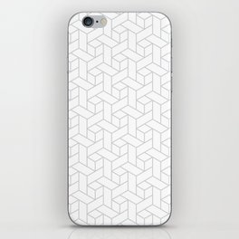 Geometric gray pattern iPhone Skin