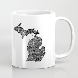 Typographic Michigan Coffee Mug