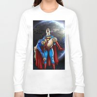 supergirl Long Sleeve T-shirts featuring The death of Supergirl by Bungle