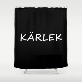 Kärlek, Swedish Love Shower Curtain
