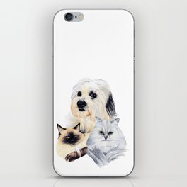 2 Cats and a Pup iPhone Skin