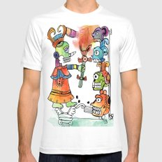Witchdoctor, inspired by Frida Kahlo White MEDIUM Mens Fitted Tee
