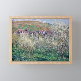 Plum Trees in Blossom by Claude Monet Framed Mini Art Print