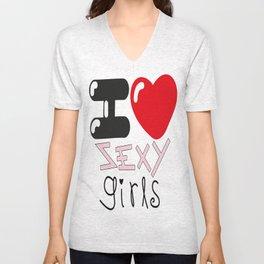 Sexy Girls Unisex V-Neck