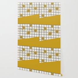 Succulents geometric composition - Yellow Lemon Curry Wallpaper
