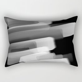 Stairs of Light - Black and White Rectangular Pillow