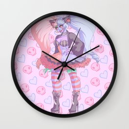 Patches- alternate color Wall Clock
