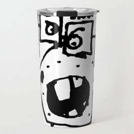 Angry Man Pencil Drawing Travel Mug