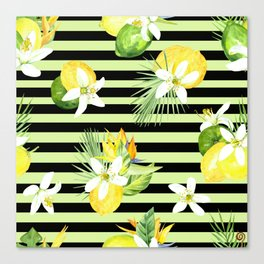 watercolor seamless pattern fresh summer Canvas Print