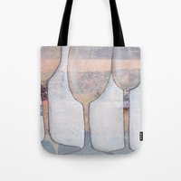 glasses Tote Bags featuring glasses by friskfisk