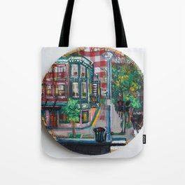 The Corner Of Market And Main Tote Bag