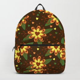 Beautiful Flowers with Heart Pistil Pattern Backpack