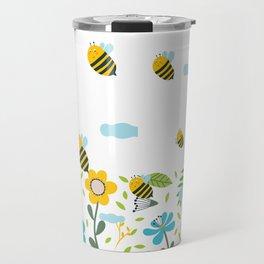 Bee Flaying Travel Mug