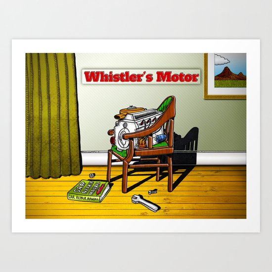 Whistler's Motor Art Print