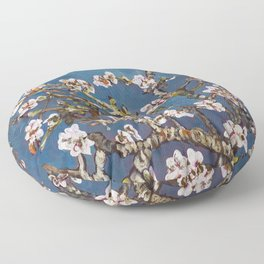 Vincent van Gogh Pink Blossoming Almond Tree (Almond Blossoms) Floor Pillow