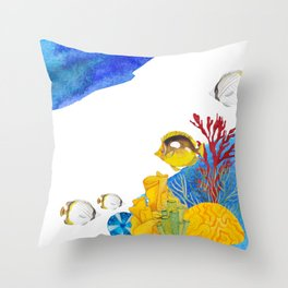 Coral Reef #7 Throw Pillow
