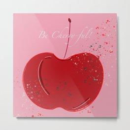 Pink Cherry-ful Metal Print