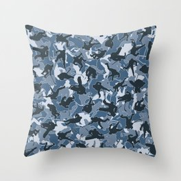 Ice Hockey Player Camo URBAN BLUE Throw Pillow