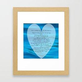 Upon Love's Ocean Framed Art Print