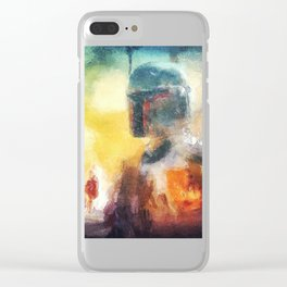 Abstract Boba Fett Clear iPhone Case