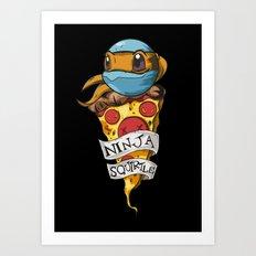 Ninja Squirtle Art Print