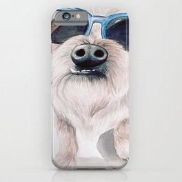 Watercolor Retro Sunglasses Dog iPhone Case