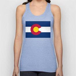 Colorado flag - High Quality image Unisex Tank Top