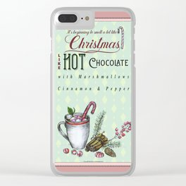 Christmas Hot chocolate Clear iPhone Case