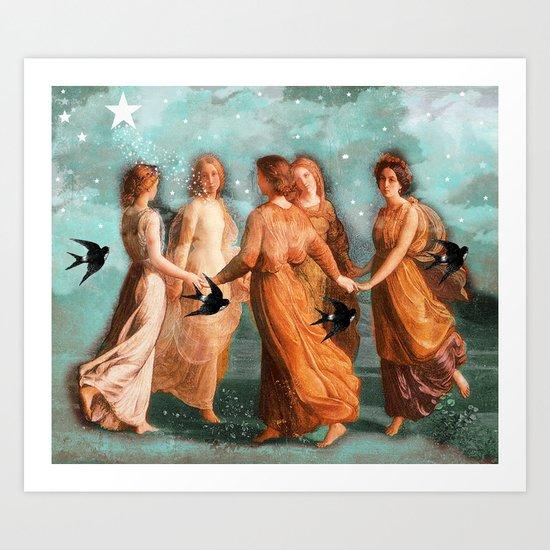 Heavens Dance Art Print