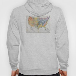 1874 Geological Map of the United States Hoody