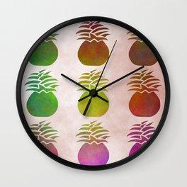 Pineapple Pattern Wall Clock
